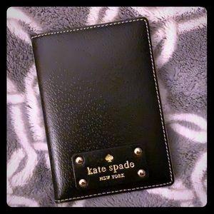 Kate Spade Black Leather Passport Holder